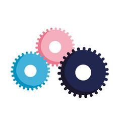 Gears cogwheel settings isolated icon design vector