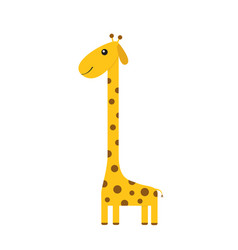 giraffe with spot zoo animal cute cartoon vector image