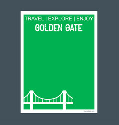 golden gate san francisco ca usa monument vector image