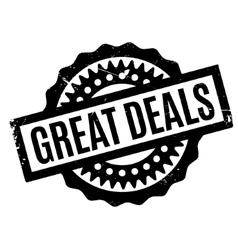 Great Deals rubber stamp vector