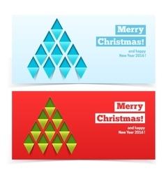 Holiday Christmas banners vector image