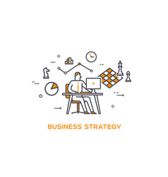 icon business 05 business strategy vector image
