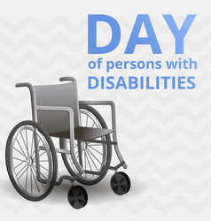 International day of disability persons concept vector