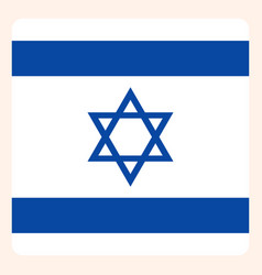israel square flag button social media vector image