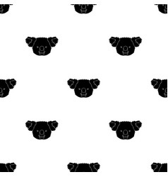 Koala icon in black style isolated on white vector
