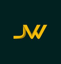 Letter jw creative business branding logo vector