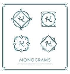 Letter K Monogram vector image