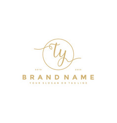 Letter ty feminine logo design vector