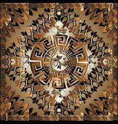 Luxury 3d geometric greek key panel pattern vector
