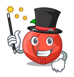 Magician fruit of nectarine isolated on mascot vector