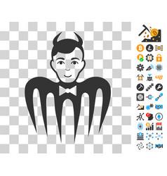 Manager spectre devil icon with bonus vector