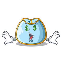 Money eye baby bib isolated on the mascot vector