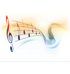 music note background white vector image