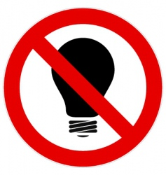 No light bulb sign vector