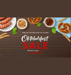 oktoberfest sale advertisement web banner vector image