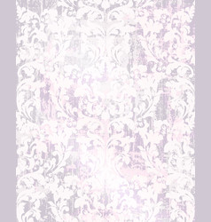 old damask ornament glossy background vector image
