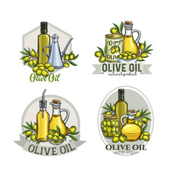 Olive label labels vector