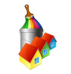 painting houses design vector image