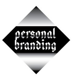 Personal branding label vector