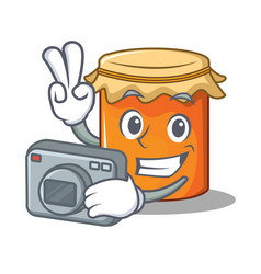 photographer jam mascot cartoon style vector image