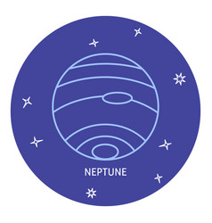 Planet neptune icon in thin line style vector