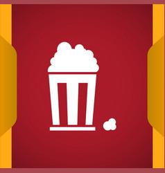 Popcorn icon vector