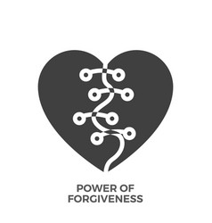 Power of forgiveness glyph icon vector