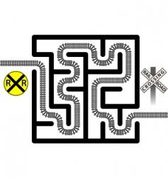 Railroad maze vector