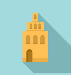 riga building tower icon flat style vector image