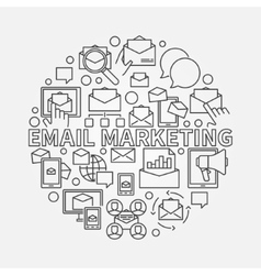 Round email marketing vector