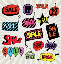 sale colorful vector image