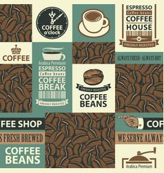Seamless pattern on coffee theme vector