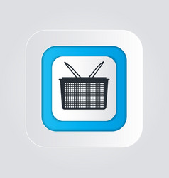 Shopping basket icon with isolated on a white vector