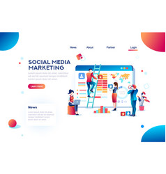 social media marketing infographic vector image