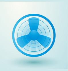 spinning fan symbol vector image