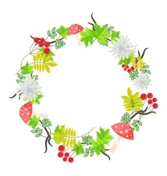 Spring floral bouquet wreath vector