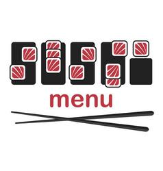 Sushi logo template vector