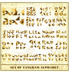 Tangram alphabet vector image
