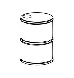 Tank barrel isolated icon vector