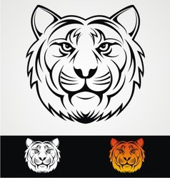 Tiger Head Tribal Mascot vector image vector image