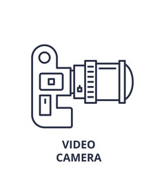 video camera line icon concept video camera vector image