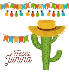 white background poster festa junina with of vector image
