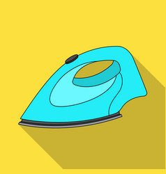 iron for ironing dry cleaning single icon in flat vector image