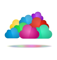 Set of color clouds - Cloud computing concept vector image vector image