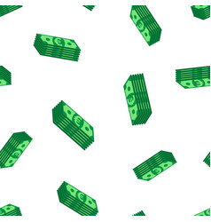 stacks euro cash seamless pattern background vector image vector image