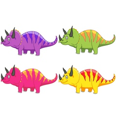 Triceratops cartoon vector image vector image