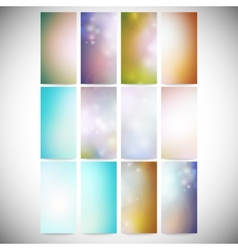 Abstract Colored Backgrounds set Modern vertical vector image