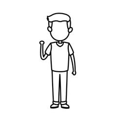 Cartoon boy kid son family image vector