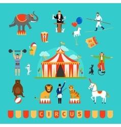 Circus and fun fair elements vector image vector image