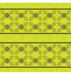 Green floral lace pattern vector image